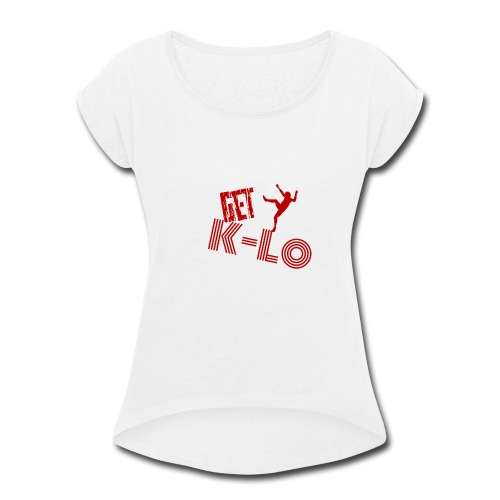 Red k lo - Women's Roll Cuff T-Shirt