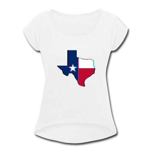 3D Texas - Women's Roll Cuff T-Shirt