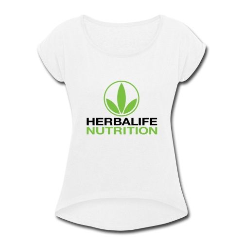 Herbalife Nutrition White Apparel - Women's Roll Cuff T-Shirt