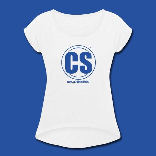 CS360Studio Logo - Women's Roll Cuff T-Shirt