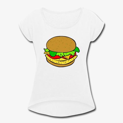 Comic Burger - Women's Roll Cuff T-Shirt