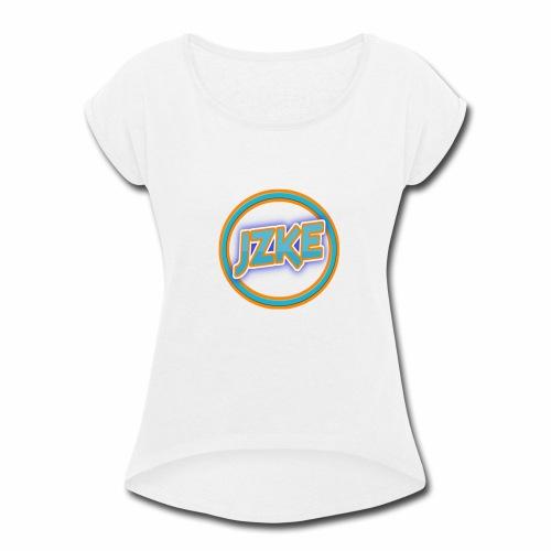Jzke retro logo - Women's Roll Cuff T-Shirt