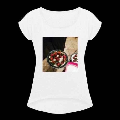 V-Day from Cakez Zauce - Women's Roll Cuff T-Shirt