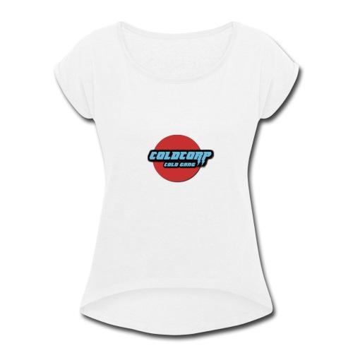 Lightning Cold Gang Emblem - Women's Roll Cuff T-Shirt