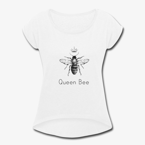 Simple Collection Queen Bee - Women's Roll Cuff T-Shirt