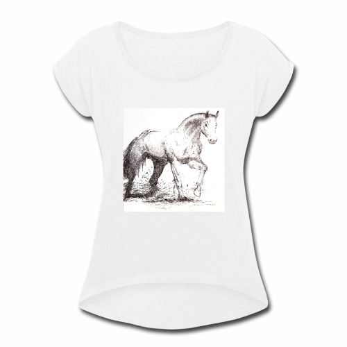 Stallion - Women's Roll Cuff T-Shirt