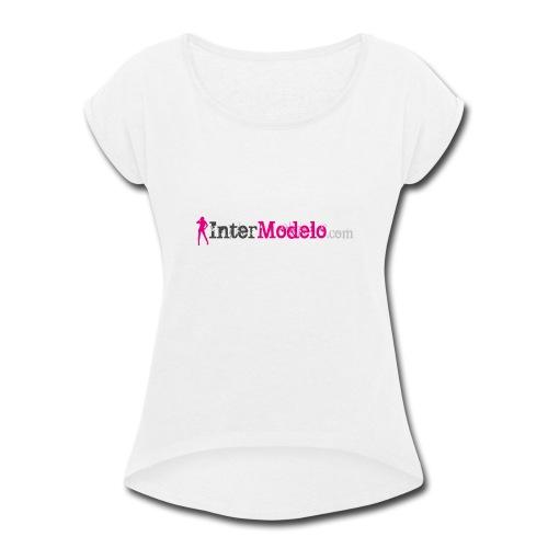 Intermodelo Color Logo - Women's Roll Cuff T-Shirt