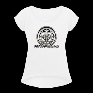 Psyops Gaming Logo - Women's Roll Cuff T-Shirt