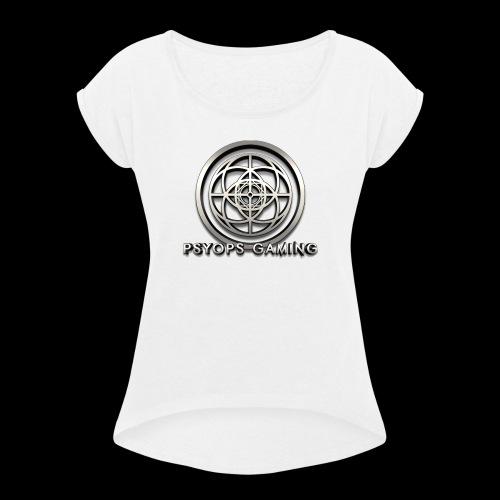 Psyops Gaming Logo - Women's Roll Cuff T-Shirt