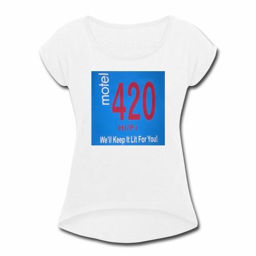 CANNABIS LOVERS! - Women's Roll Cuff T-Shirt