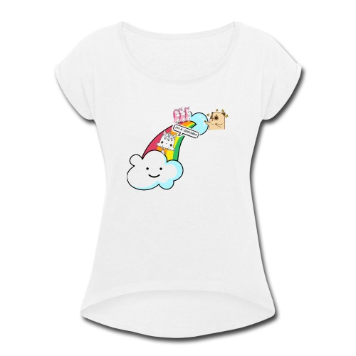 Unicorn Birthday, Unicorn Gift, Birthday Outfit - Women's Roll Cuff T-Shirt