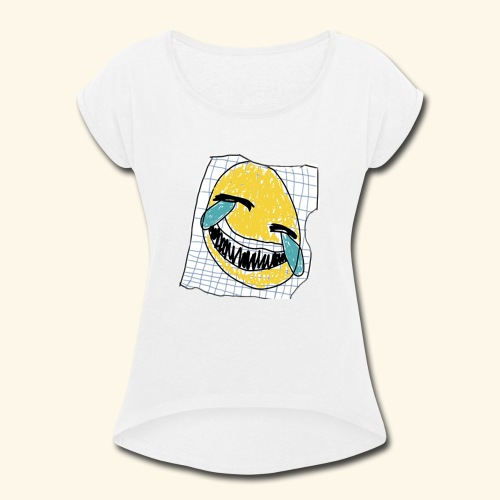 הנייר הזה שעל אלוהים - Women's Roll Cuff T-Shirt