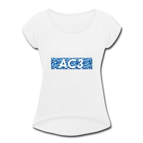AC3 bape Supreme logo - Women's Roll Cuff T-Shirt