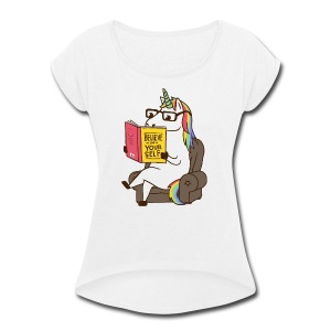 Unicorn - Women's Roll Cuff T-Shirt