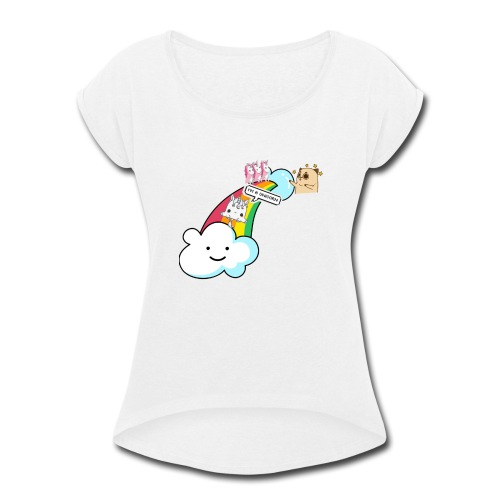 Unicorn Birthday, Unicorn Gift, Birthday Outfit - Women's Roll Cuff T-Shirt