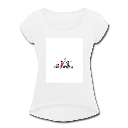 ContraVsSoul - Women's Roll Cuff T-Shirt