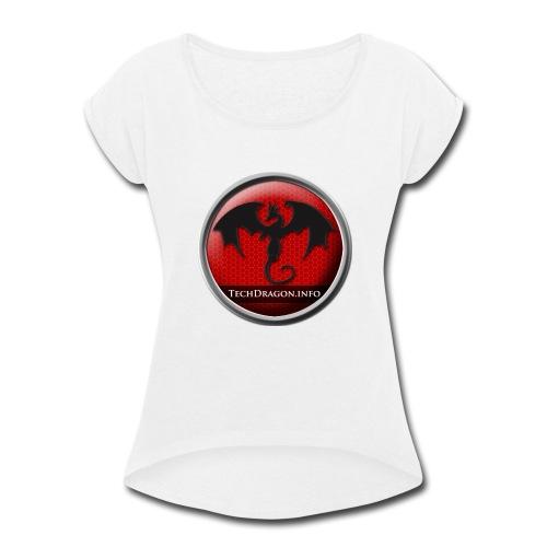 Techdragon logo - Women's Roll Cuff T-Shirt