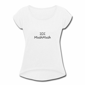 Logo On Light - Women's Roll Cuff T-Shirt