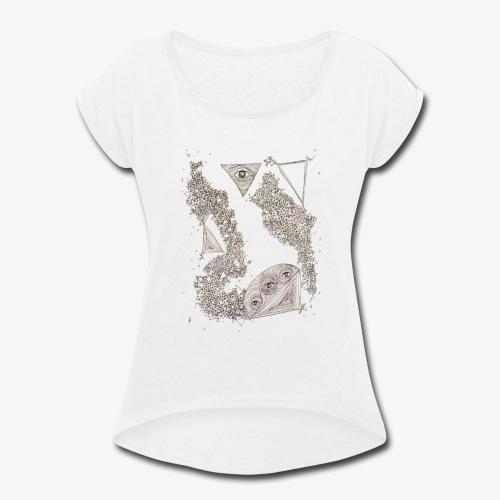 Ojos Claros - Women's Roll Cuff T-Shirt