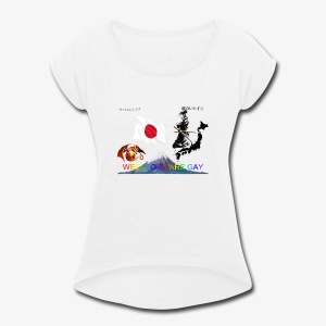 WEEABOOS ARE GAY - Women's Roll Cuff T-Shirt