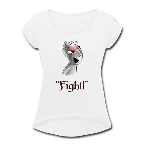 Jeju fights! - Women's Roll Cuff T-Shirt