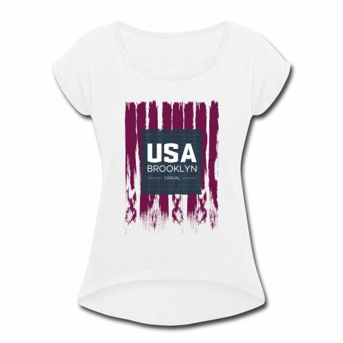 US T-Shirt - Women's Roll Cuff T-Shirt