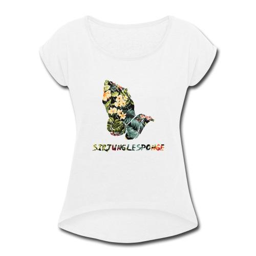 sirjunglesponge floral - Women's Roll Cuff T-Shirt