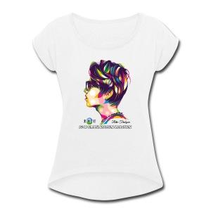 2018 Dimash Reaction Marathon - Women's Roll Cuff T-Shirt