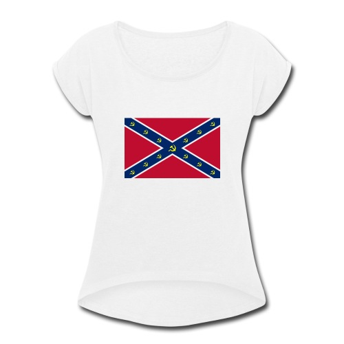 Confederate Communism - Women's Roll Cuff T-Shirt