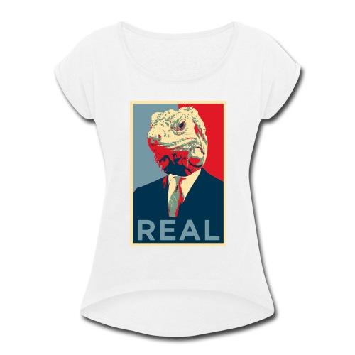 Reptilian - Women's Roll Cuff T-Shirt