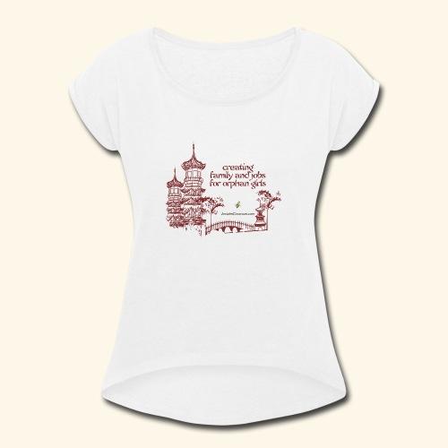 Josiah's Covenant - creating family - Women's Roll Cuff T-Shirt