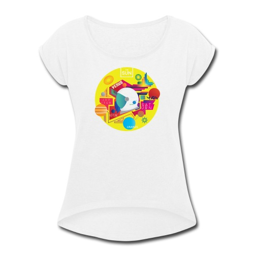 Cosmonaut DESIGN - Women's Roll Cuff T-Shirt