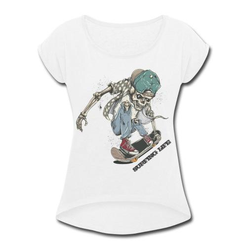 SURFING LIFE - Women's Roll Cuff T-Shirt