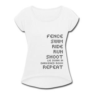 Pentathlon Is Brutal - Women's Roll Cuff T-Shirt