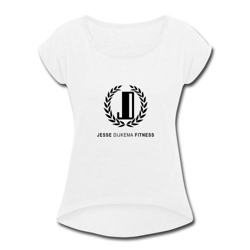 JD Logo - Women's Roll Cuff T-Shirt