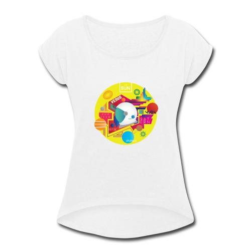 Cosmonaut DESIGN - Women's Roll Cuff T-Shirt