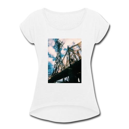 Ed Koch bridge - Women's Roll Cuff T-Shirt