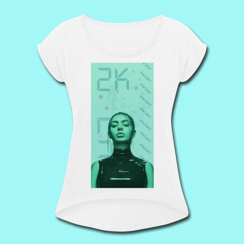 TWO_KAY_00 Latex - Women's Roll Cuff T-Shirt