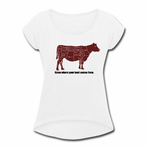 Cuts of the Cow - Women's Roll Cuff T-Shirt