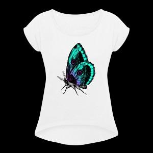 ButterFly - Women's Roll Cuff T-Shirt