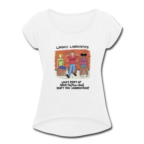 Semantics Black - Women's Roll Cuff T-Shirt