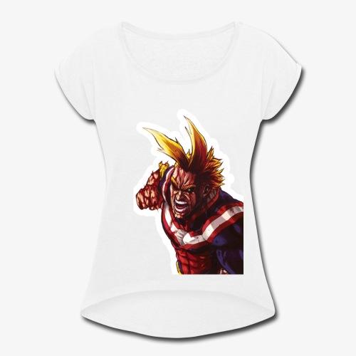 All Might - Boku no Hero Academia - Women's Roll Cuff T-Shirt