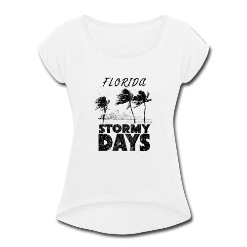 Florida Irma Hurricane Tornado Storm USA 2017 - Women's Roll Cuff T-Shirt
