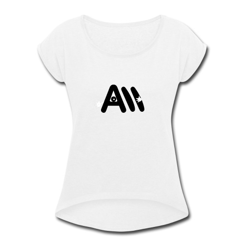 Artist Monster Logo - Women's Roll Cuff T-Shirt