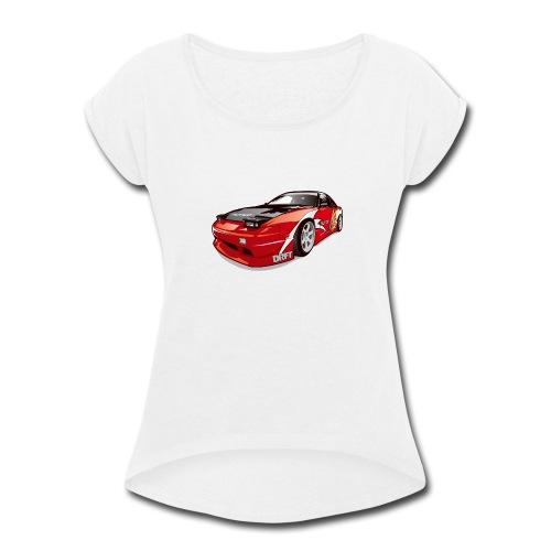 cars drift - Women's Roll Cuff T-Shirt