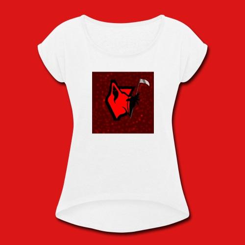 PhantomGames Logo - Women's Roll Cuff T-Shirt