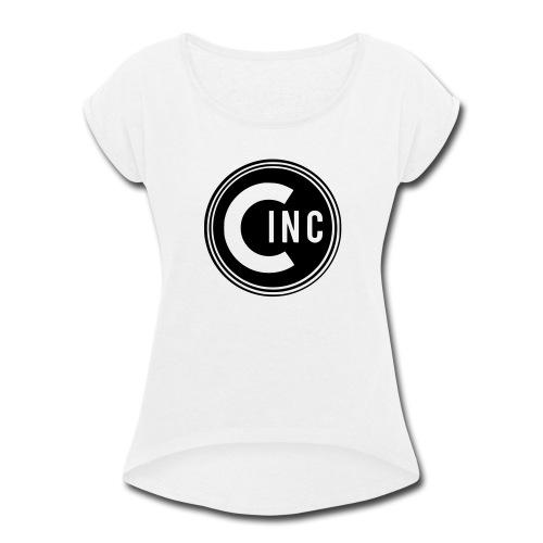 Coasters Inc. Logo - Women's Roll Cuff T-Shirt