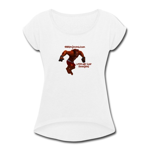 Munkee Kissin Dunkee's - Munkee - Women's Roll Cuff T-Shirt