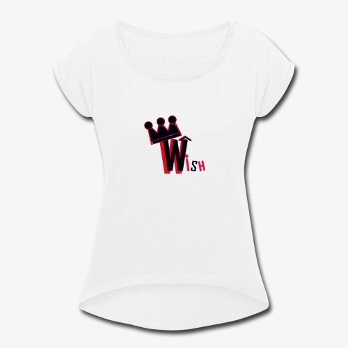 Wish Clan Logo - Women's Roll Cuff T-Shirt