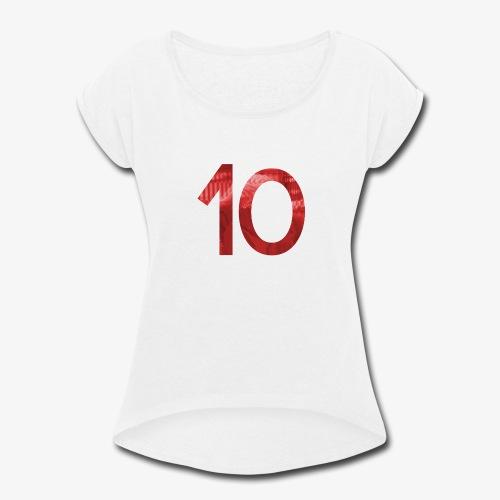10Hits Album Art - Women's Roll Cuff T-Shirt